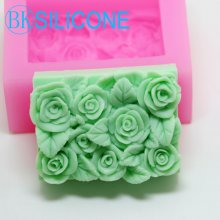 Rose Silicone Cake Molds Chocolate Soap Sugar Craft Mould Silicone Tools DIY Cupcake AM023