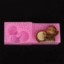 3d angel silicone molds drum baby mould WA014