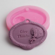 BD024 give thanks Silicone Molds Cookie Cake Mold Chocolate Candy Soap Mould