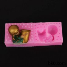3D angel soap silicone mold candle silicon mold cake decoration molds music baby mould factory direct supply WA015