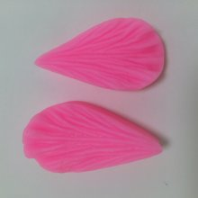 S1024 3D Leaf Silicone Mold Cake Mould Fondant Bakeware Decorating 2pcs