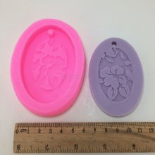 BN008 flower design fondant cake mold aromatherapy wax mold car decorative pendant gypsum aroma silicone mold