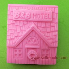 House Shaped silicone Soap Mold,Resin Clay Chocolate Candy Silicone Cake Mould AS022