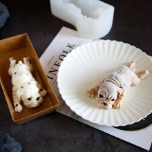 instant online celebrities 3d bulldog mousse cake mould color pink
