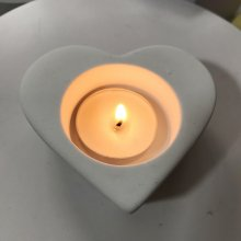 BK2039 Heart Candleholder Silica Gel Mould Aromatherapy Gypsum Mould
