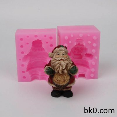 3D Christmas Silicone Mold Silicone Christmas Santa Claus Ta Kwu Shape Christmas Dacoration Form DIY WC013