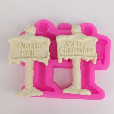 BK1104 Merry Christmas Fondant Silicone Mold North Pole Letter form Cake Decorating Tools DIY Chocolate molds Baking Moulds