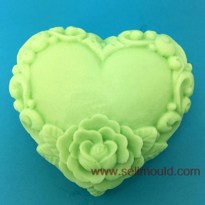 Rose Flower Silicone Decorative Soap Candle Molds Resin,Clay Crafts Mould Heart Shaped Mould AT014