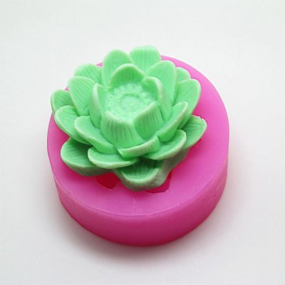 Lotus Breast Milk Soap Candle Mold Silicone Cake Mold Bakeware Cooking Decoration Cake Tools AM003