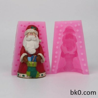 3D Santa Claus Christmas Stockings Silicone Molds Silicone Christmas Resin Craft Home Decor Soap Chocolate Mold WC009