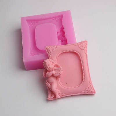 BD006 Angel Photo Frame Silicone Mold Resin Crafts Molds Cake Decorating Tools