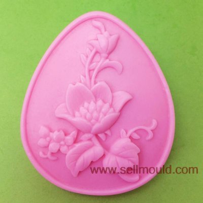 Flowers Silicone Soap Mold Sugar Paste Fondant Cake Decoration AS024