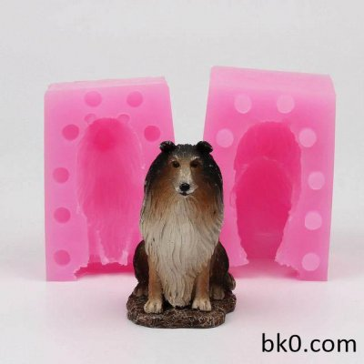 3D Dog Shaped Silicone Molds Fondant Cake Decoration Mould Handmade Soap Mold WE006
