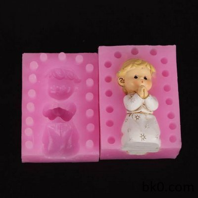 3d pray girl silicone moulds soap mold cake decorating tools candle resin molds WA006
