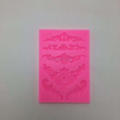 U1025 Beautiful Flower Shape Chocolate Candy Jello 3D Silicone Fondant Lace Mold Mould Cake Decoration