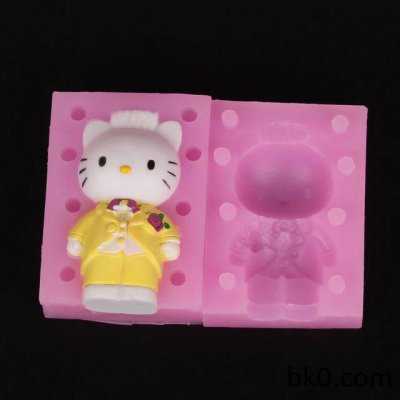 3D cat silicone moulds soap mold cake decorating tools candle resin molds WA001