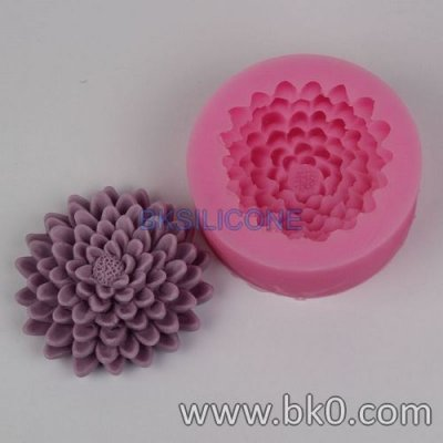 BK002 mum flower silicone molds Clay Mold Cake Decorating Tools
