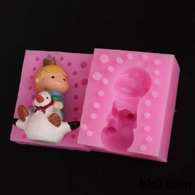 Cake Decoration Mould 3D Silicone Chocolate Soap Candle Mold Boy And Duck WA011