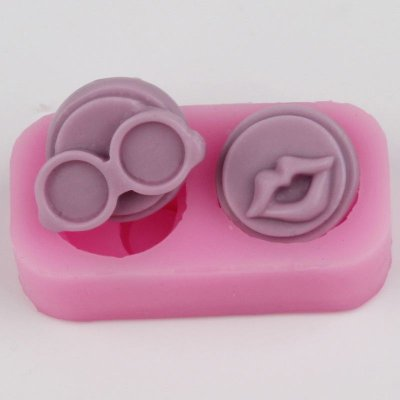BH008 Red lips glasses silicone mold Candy Silicone Cake Mould Fondant Cake Decorating Tools
