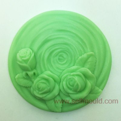 Rose Flower Shaped Soap Mold,Resin Clay Chocolate Candy Silicone Cake Mould,Fondant Cake Decorating Tools AV022