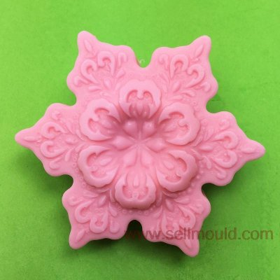 Snow Flake Shape Silicone Soap Mold Chocolate Candy Jello 3D Cake Tools Sugar Craft Flowers Cake Decoration Mold AV008