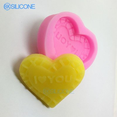 Heart Shaped Silicone Mold Candle Mould DIY Cake Fondant Molds AN012