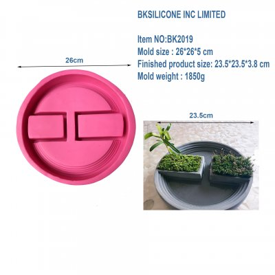 BK2019 round concrete concrete staircase flowerpot floral floral silicone mold personality pot mold