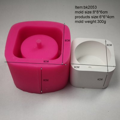 Bk2053 Creative Geometric Polygon Concrete Flower Pot Multi-flesh Flower Pot Silica Gel Mould Customized Base