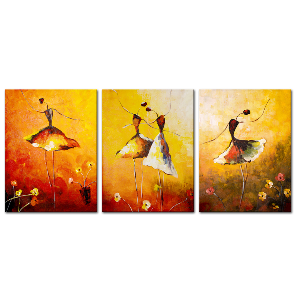 Canvas Prints Beautiful Ballet Dance Painting Abstract Art Dance ...