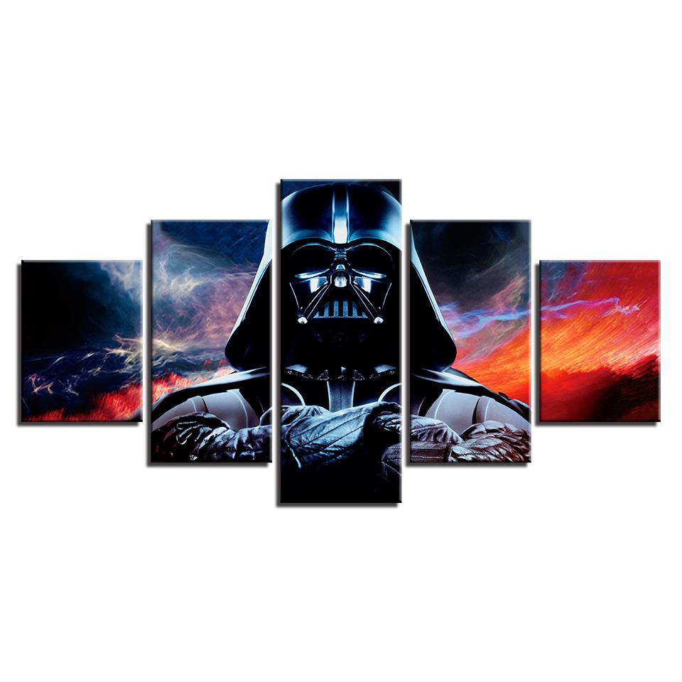 amosi art wall modular picture modern type 5 panel movie star wars