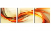Amosi Art-3 Panels Abstract Canvas Painting Colorful Ribbon Picture Printed on Canvas Wall Art For Home Decoration With Stretched and Framed