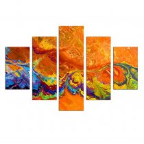 Amosi Art-5 Piece Canvas Paintings Abstract Pigment Wall Art Painting Print on Canvas No Frame for Home Decor for Living Room for Gifts