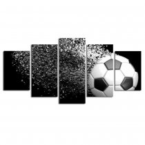 Amosi Art-Wall Art  5 Panel Football Picture Posters Modern HD Canvas Printing fo Living Room Decoration