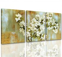 3 panles retro pear flower canvas prints wall art