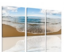 Blue sea view beach landscape canvas print painting
