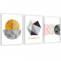 3 Piece Abstract Canvas Prints Wall Art Geometry Wall Picture Simple Life Painting for Living Room Decor
