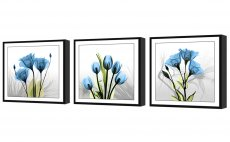 Amosi Art-3 Panels Wall Art Elegant Tulip Flowers Canvas Print Wall Art Painting for Modern Home Decoration With Black Framed Ready to Hang