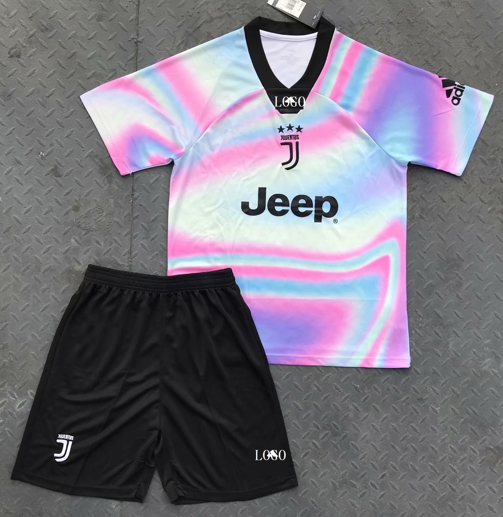 2019 20 Adult Juventus Ea Sports Red Soccer Uniforms Special Version