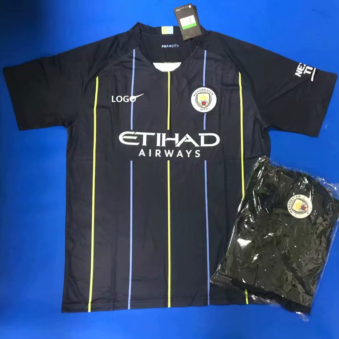6525868c 2019 Men Manchester City Away Soccer Uniform kit