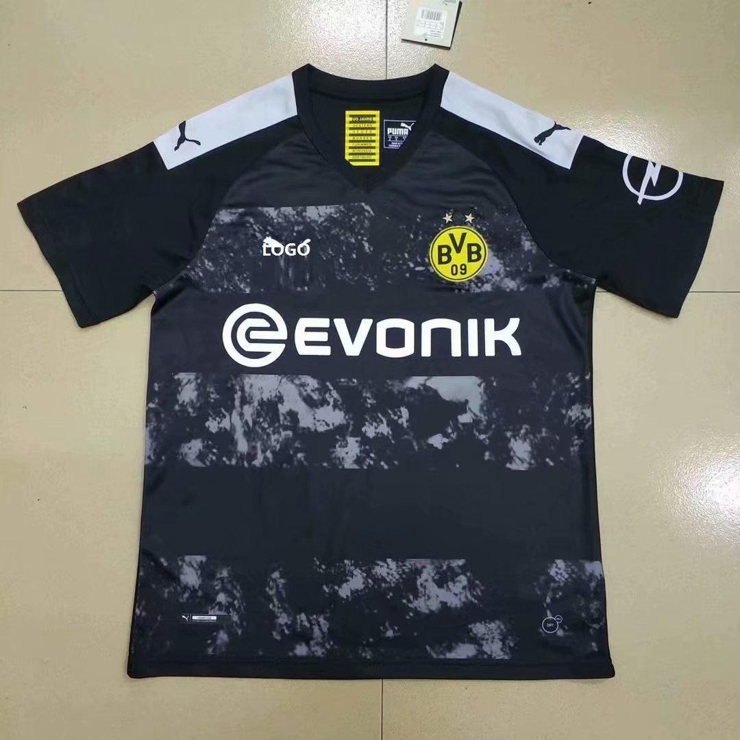 45c12bdda63 19/20 Adult Borussia Dortmund Football Shirt Men Black Away Soccer Jerseys  Item NO: 575260