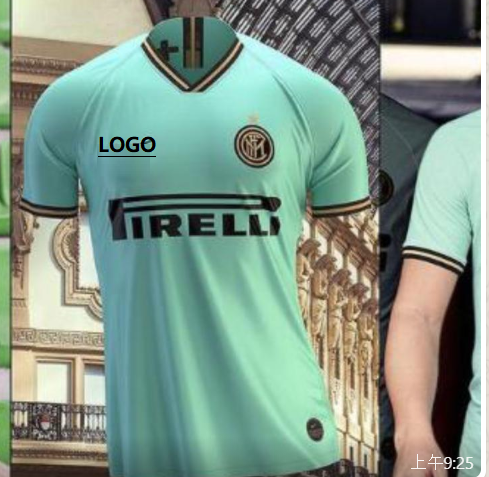 19-20 men thai quality Inter Milan Away blue Soccer jersey