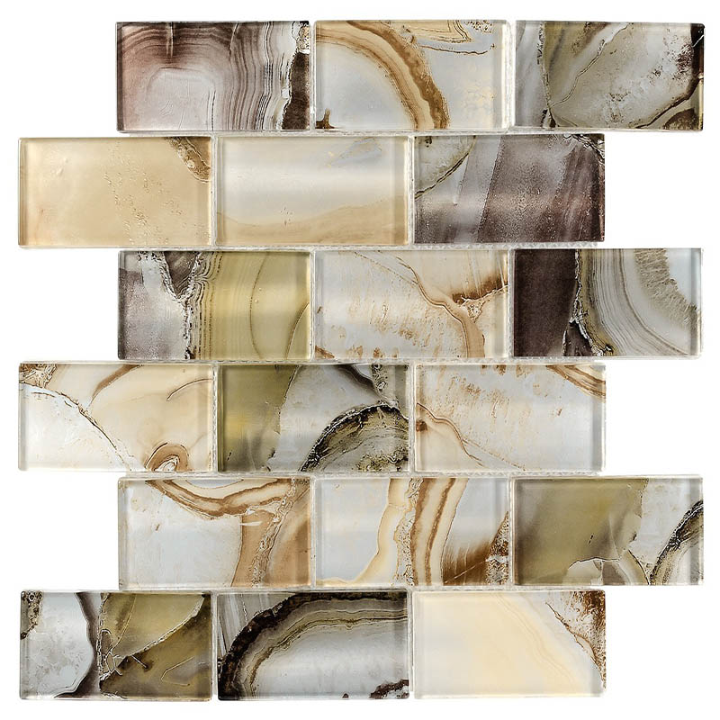 Us 1365 Glass Subway Tile Onyx Beige Ob01 Artkinghao