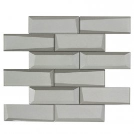 Glass Wall Tile Dimension Silver OB25