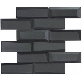 Glass Wall Tile Dimension Black OB20