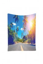 Sunkissed Coconut Palms Photos Print Large Wall Tapestry