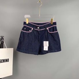 Moschino women's original single 2019 spring and summer new products denim shorts