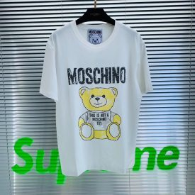 Moschino 19 spring and summer graffiti bear men and women lovers stars web celebrity T-shirt printing letters