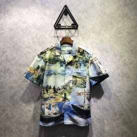 OFF OW19SS oil painting series shirt, OS version