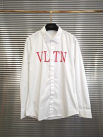 Valentino 19 SS new style VLTN letter LOGO Printed casual business long sleeve shirt