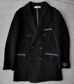 Dior New Double-faced cashmere coat,import  10% pashm 90% LaLambswool